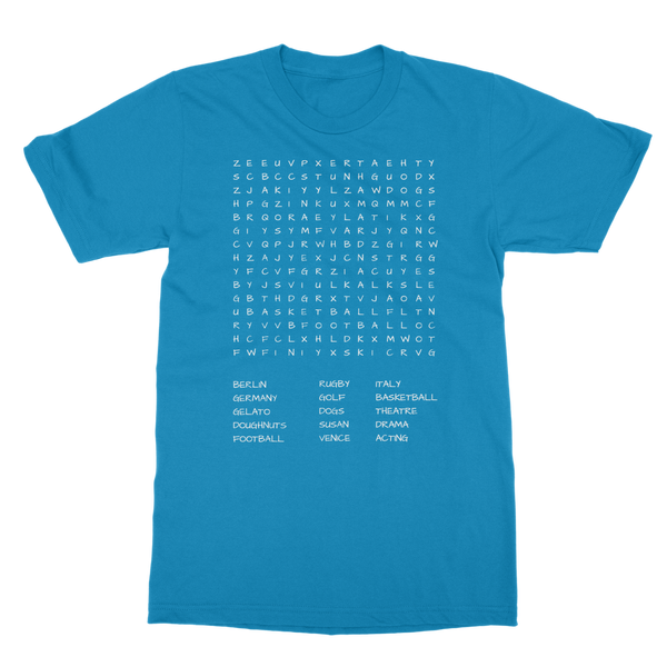 Your Word Search Custom Unisex Adult T-Shirt