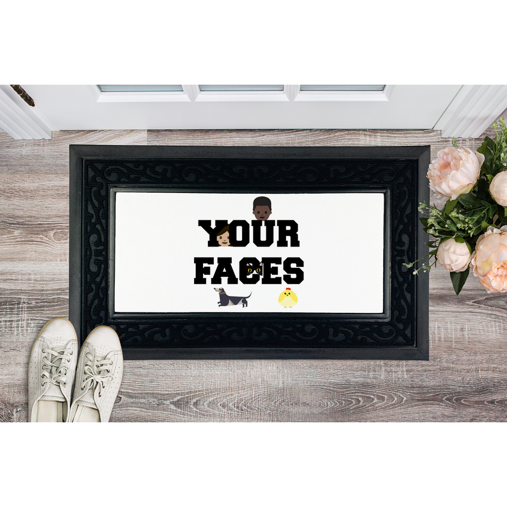 Your Faces Door Mat Sublimation Heavy Duty Door Mat