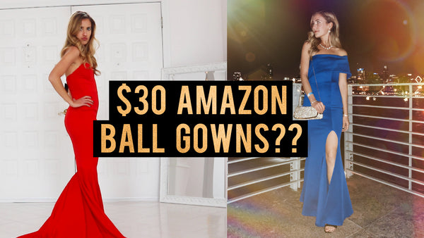 TRYING ON CHEAP PROM DRESSES FROM AMAZON | UNDER $30 BALL GOWNS