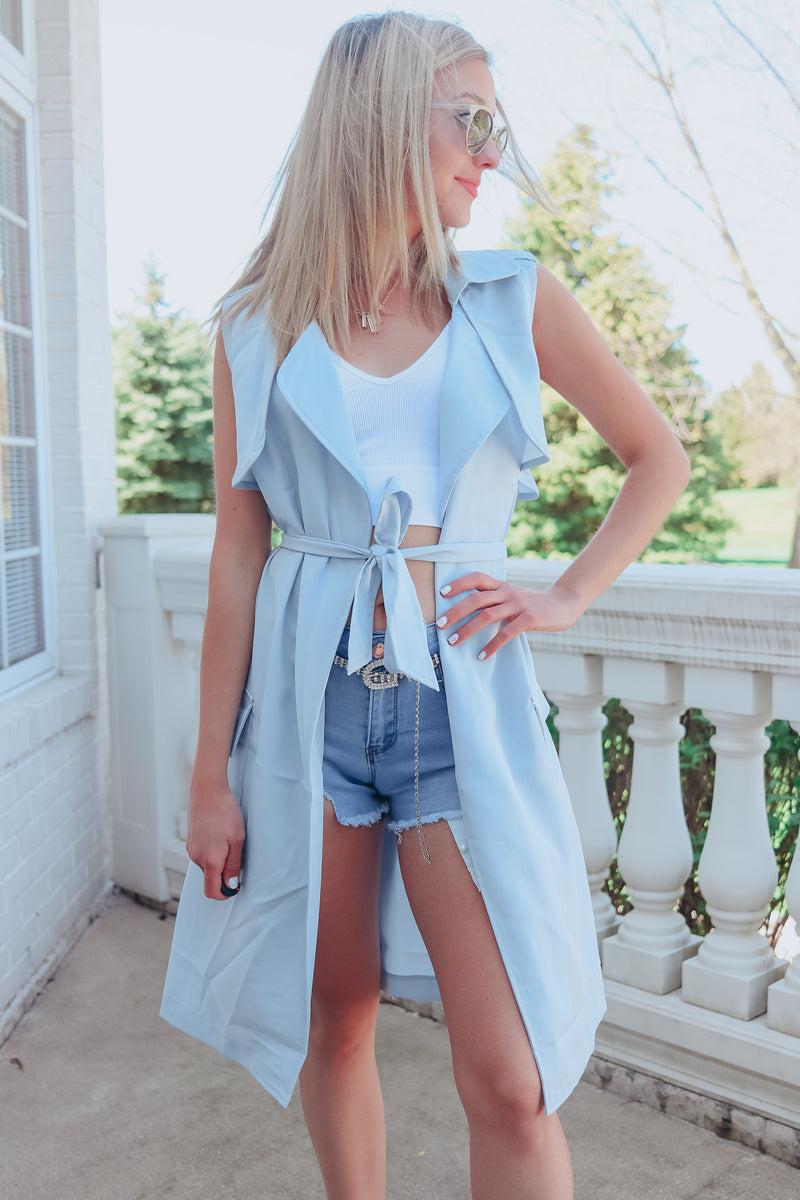 ANGEL BABY BLUE TRENCH DUSTER 😇