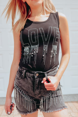 YOU'RE MY LOVE EMBELLISHED TANK 💠