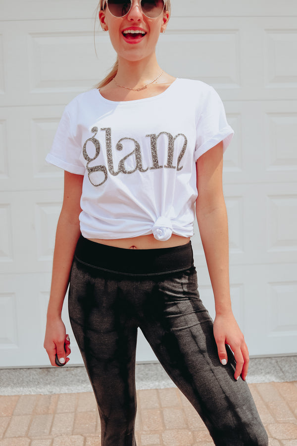 OH SO GLAM Crystal Embellished Tee 💎