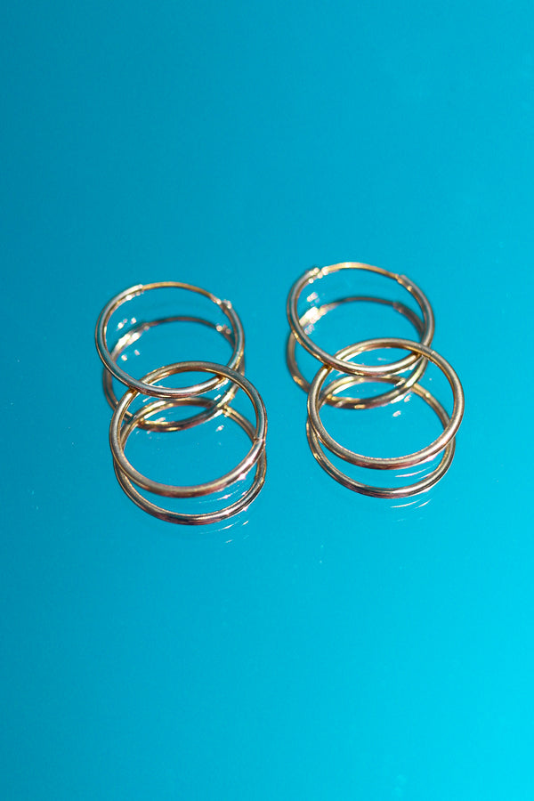 GOLD DOUBLE HOOP EARRINGS 💫