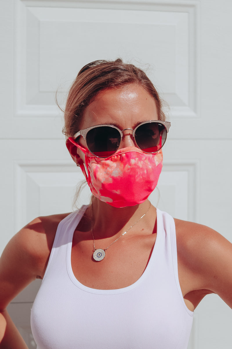 SUMMER BURST TIE DYE FASHION FACE MASK 🌞