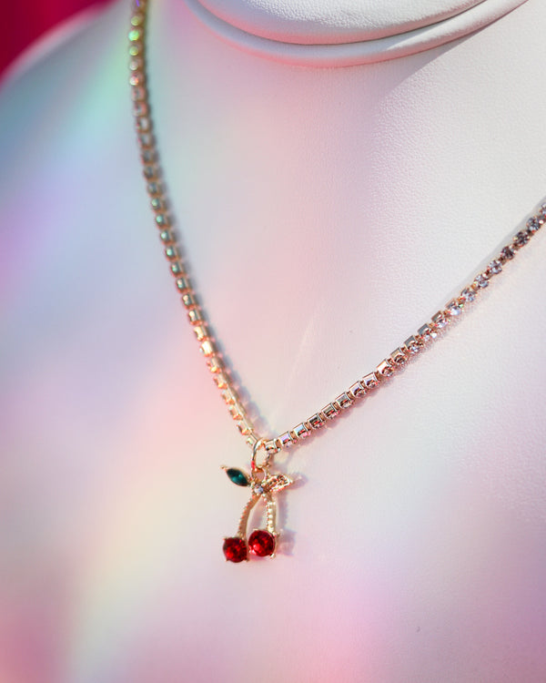 CHERRY BLING NECKLACE