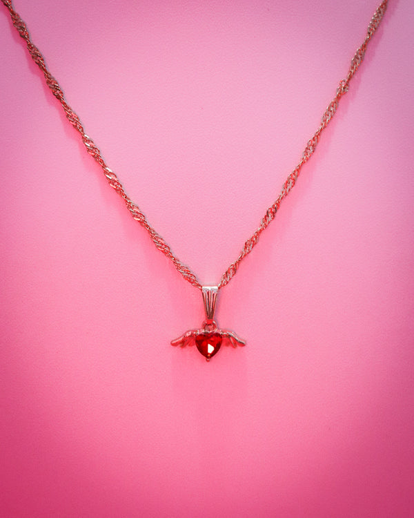CUPID NECKLACE - GOLD/RED