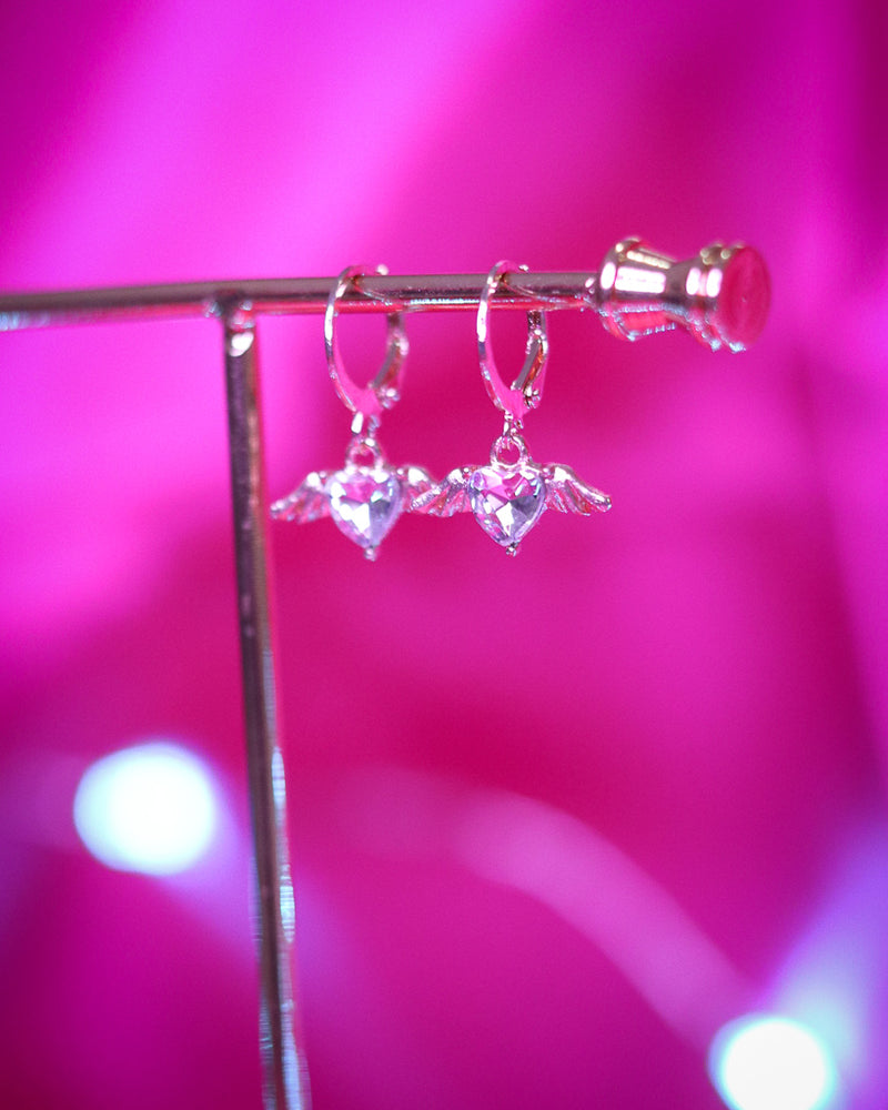 CUPID EARRINGS - GOLD/CLEAR