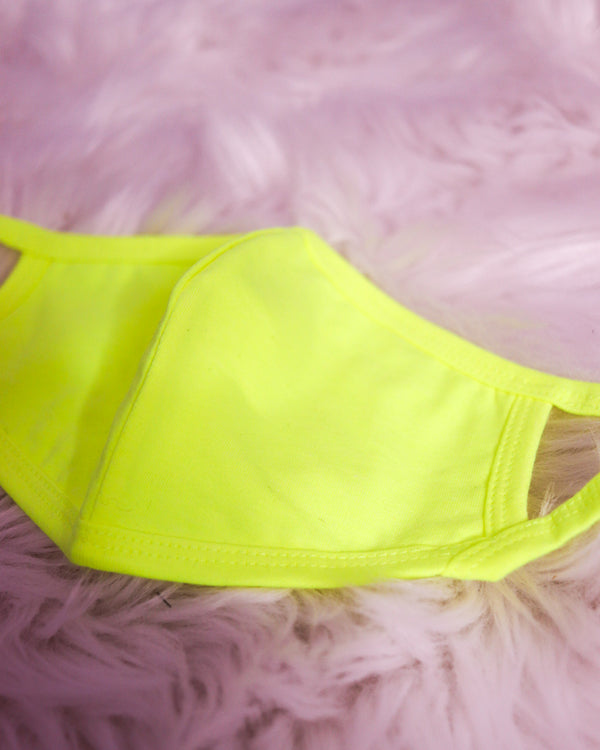 NEON LIME FACE MASK