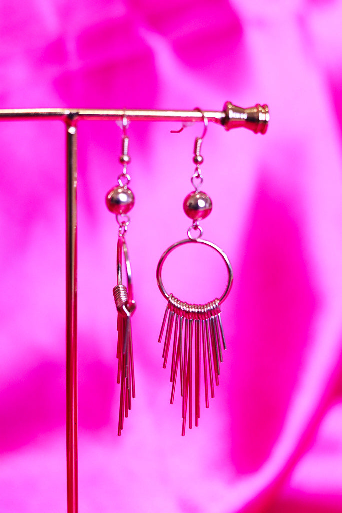 FRINGE HOOP EARRINGS - GOLD