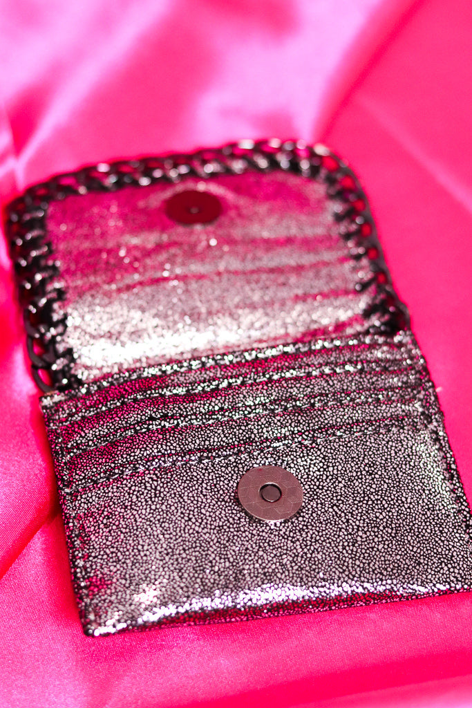 SILVER METALLIC CHAIN WALLET
