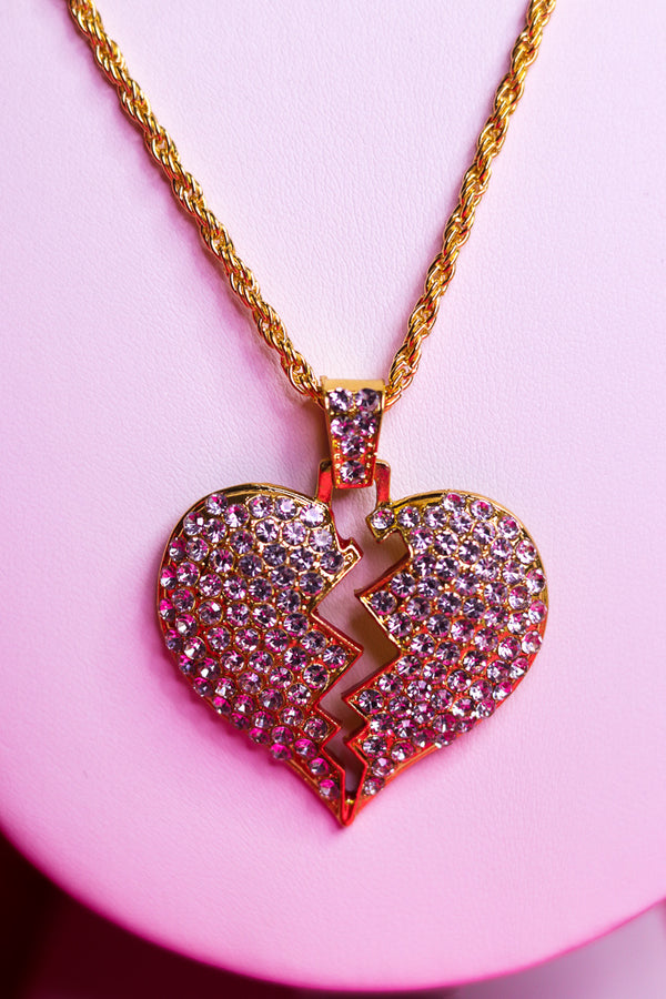 ICY HEARTBREAK NECKLACE - GOLD