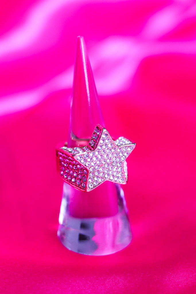 ICY 3D STAR RING