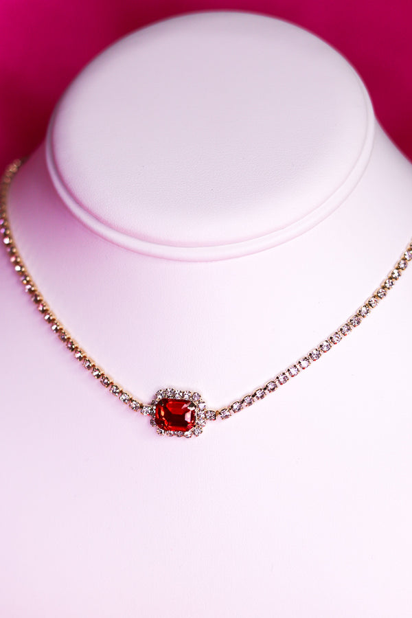 ROYAL RUBY BLING CHOKER