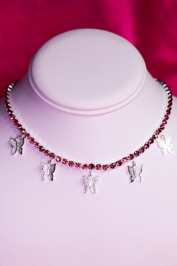 BLING BUTTERFLY CHOKER