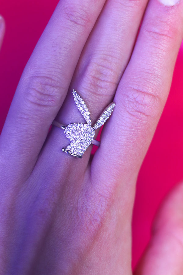 ICY BUNNY RING - SILVER