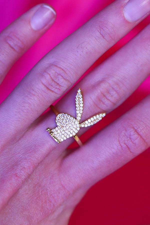 ICY BUNNY RING - GOLD