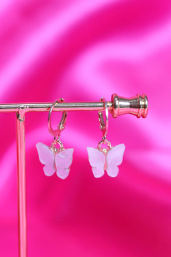 BUTTERFLY EARRINGS - GOLD/WHITE