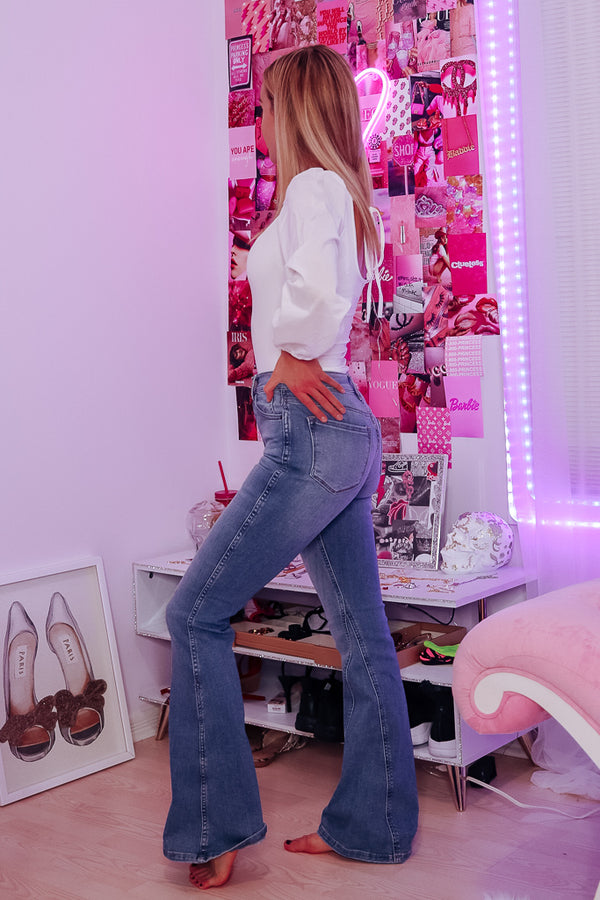 NICOLE BELL-BOTTOM FLARE JEANS - Idol Style - affordable boutique