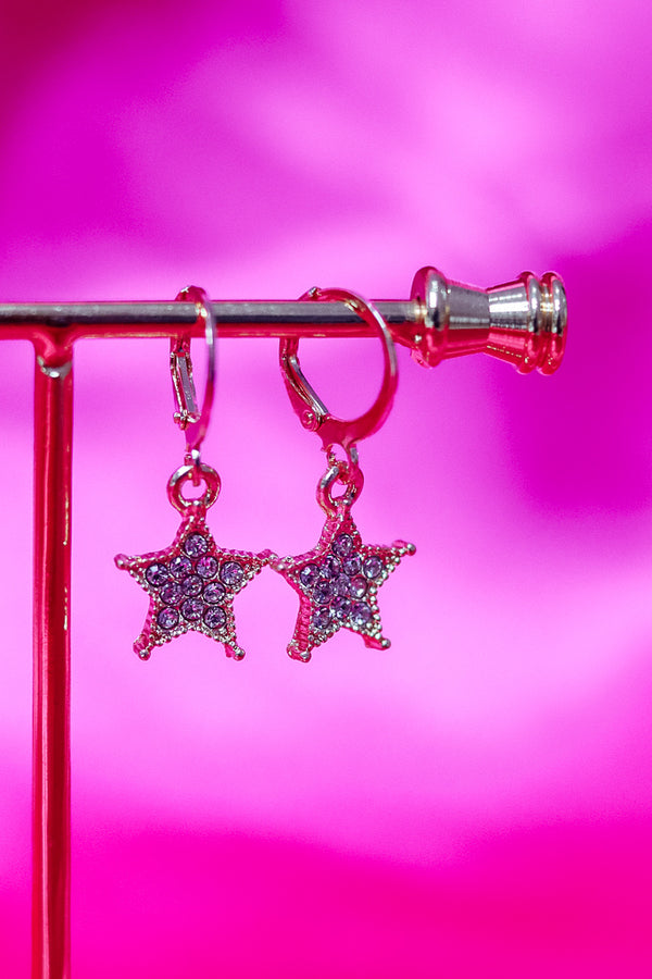 BLINGED OUT STAR EARRINGS