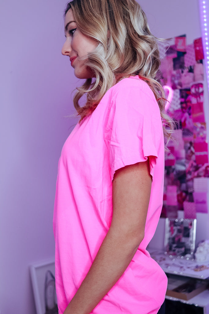 BESTIE VIBES ONLY OVERSIZED TEE - Idol Style - affordable boutique