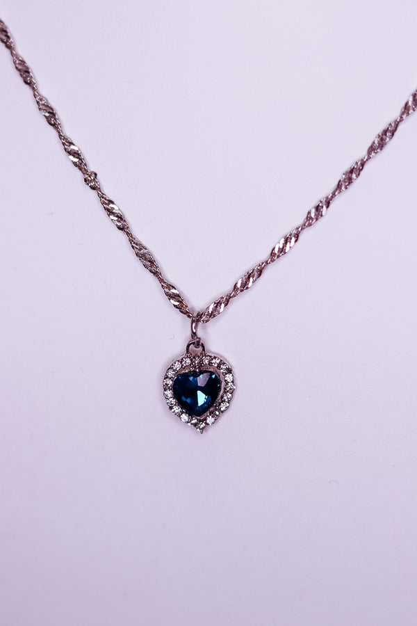 ROYAL EMERALD NECKLACE - SILVER