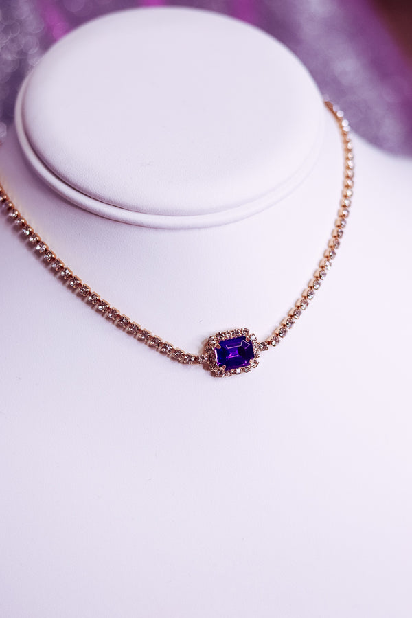 ROYAL VIOLET BLING CHOKER