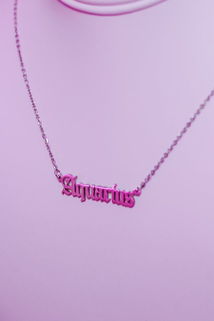 ZODIAC NECKLACE - ALL SIGNS AVAILABLE