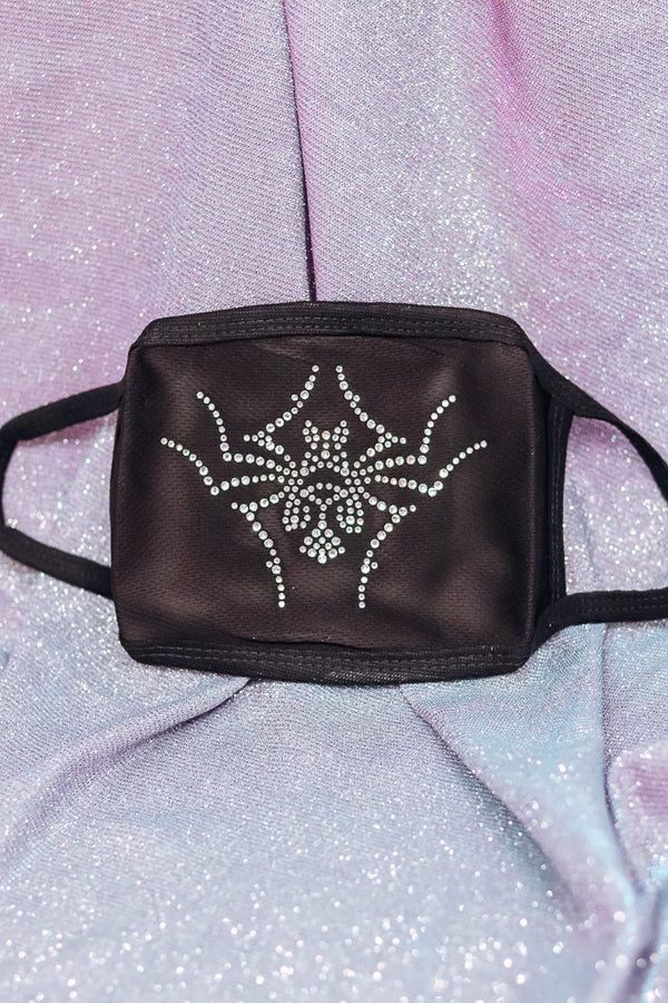 SPIDER RHINESTONE MASK - Idol Style - affordable boutique