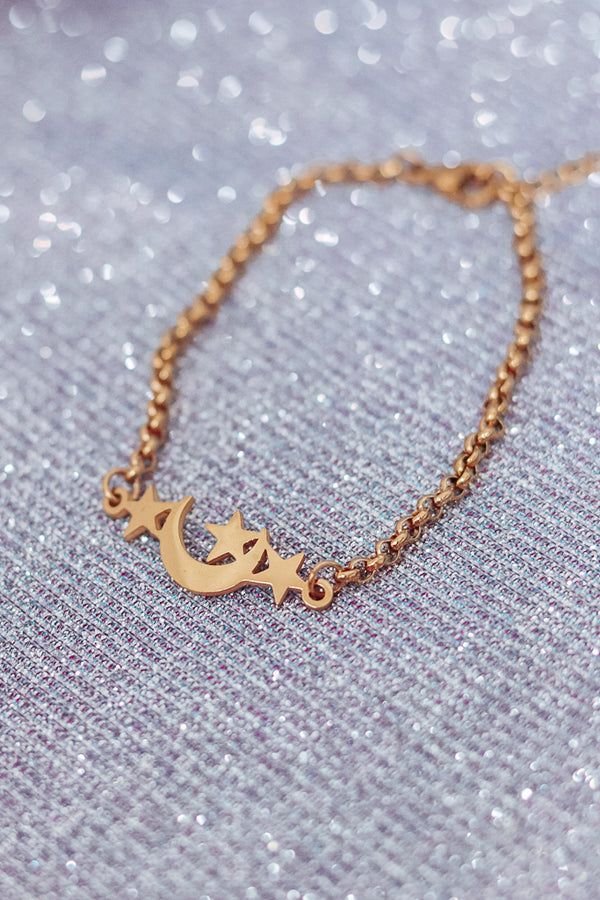 STAR & MOON BRACELET - GOLD
