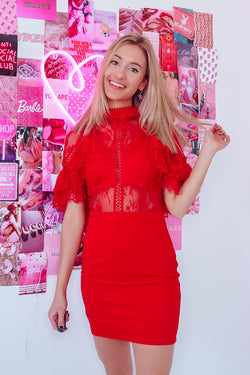FIRECRACKER LACE DRESS - Idol Style - affordable boutique