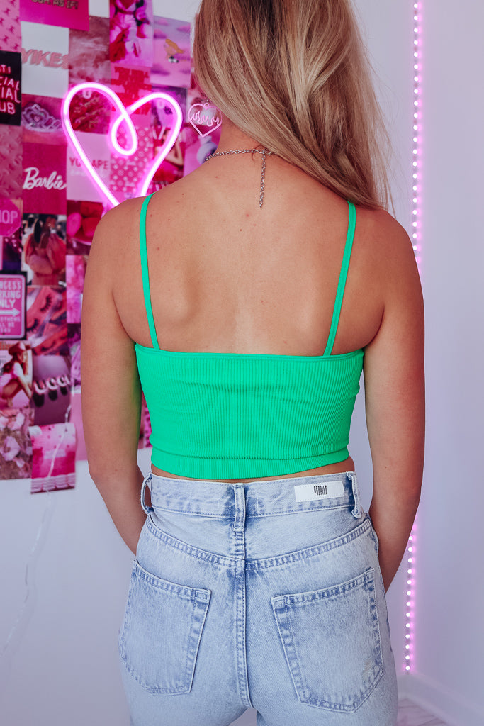 DAY TO NIGHT SEAMLESS CAMI TOP - GREEN - Idol Style - affordable boutique