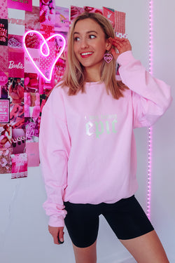 I WAS FEELING EPIC Oversized Fleece Sweatshirt - Idol Style - affordable boutique