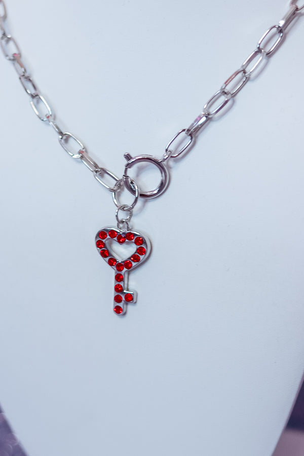 KEY TO MY HEART NECKLACE - Idol Style - affordable boutique