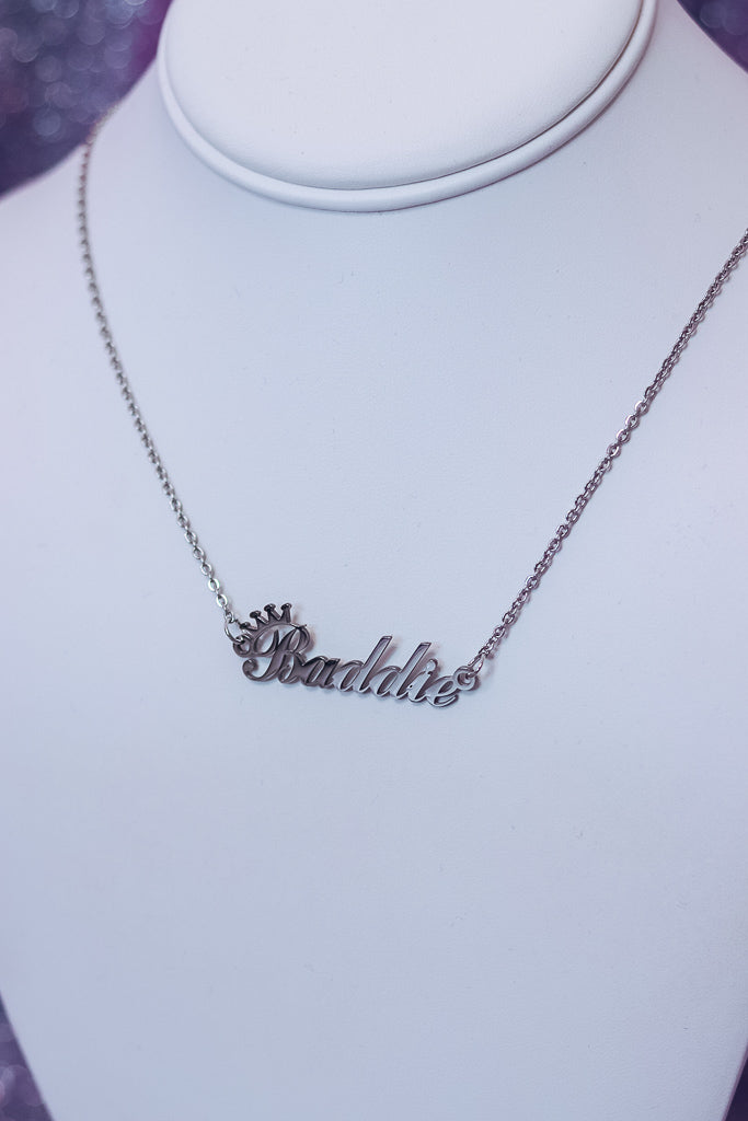 BADDIE NECKLACE - SILVER - Idol Style - affordable boutique
