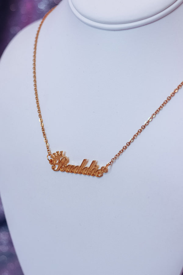 BADDIE NECKLACE - GOLD - Idol Style - affordable boutique