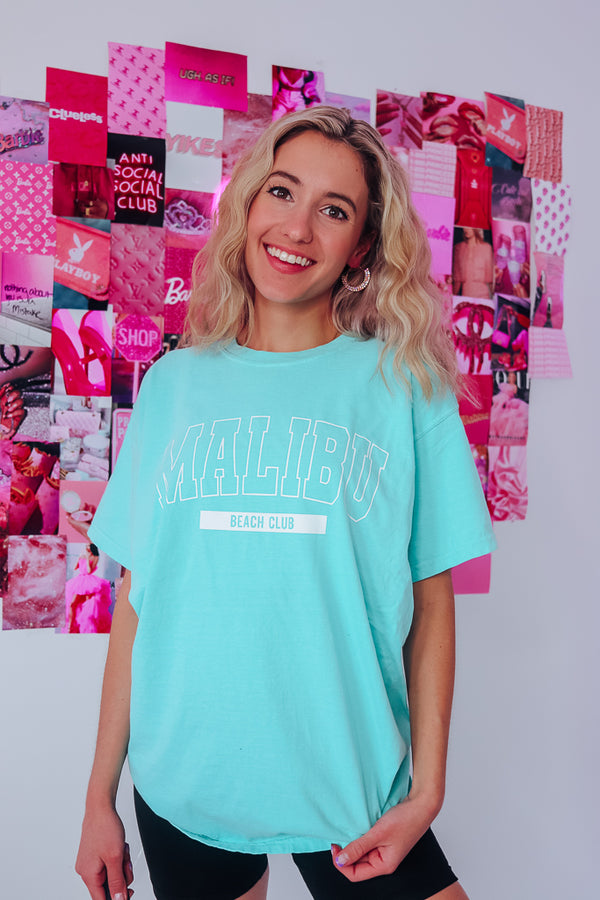 MALIBU BEACH CLUB OVERSIZED TEE - Idol Style - affordable boutique