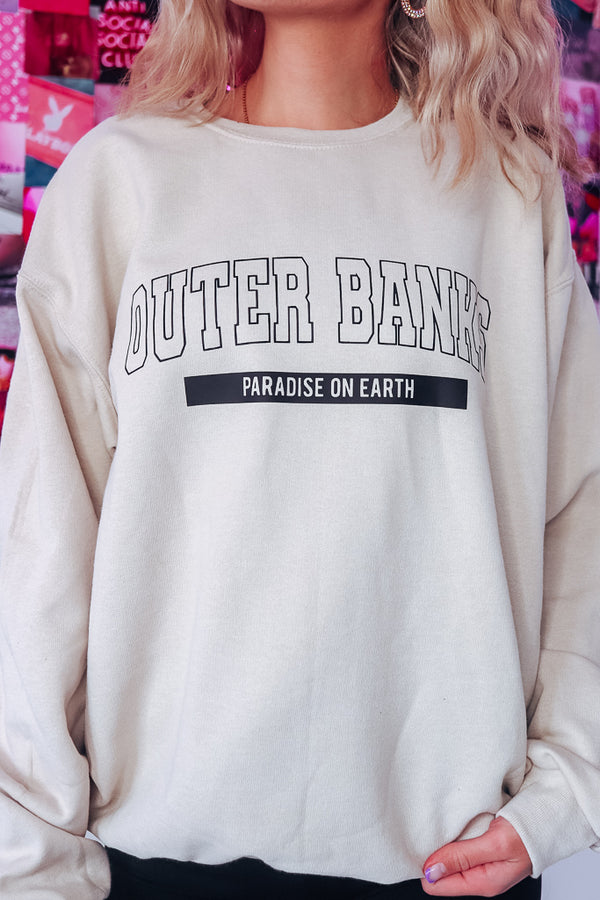 OUTER BANKS Oversized Fleece Sweatshirt - Idol Style - affordable boutique