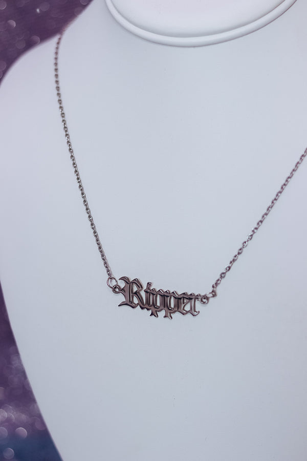 RIPPER NECKLACE - SILVER - Idol Style - affordable boutique