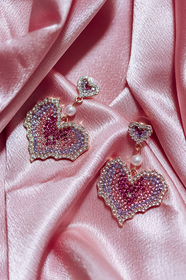 GLAM HEARTS EARRINGS - Idol Style - affordable boutique