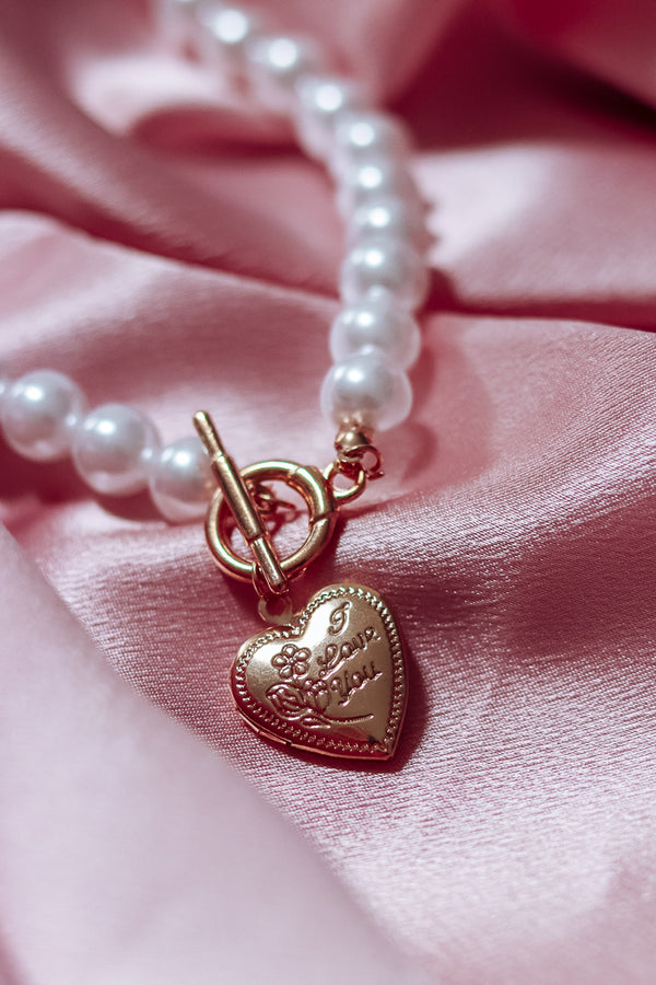 PEARL HEART LOCKET CHOKER - Idol Style - affordable boutique