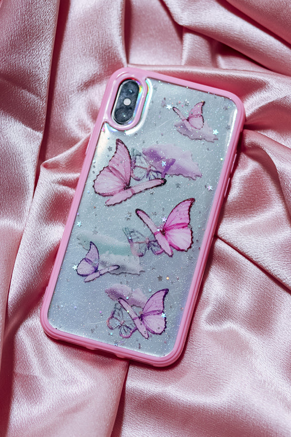 HOLOGRAPHIC BUTTERFLY PHONE CASE - Idol Style - affordable boutique