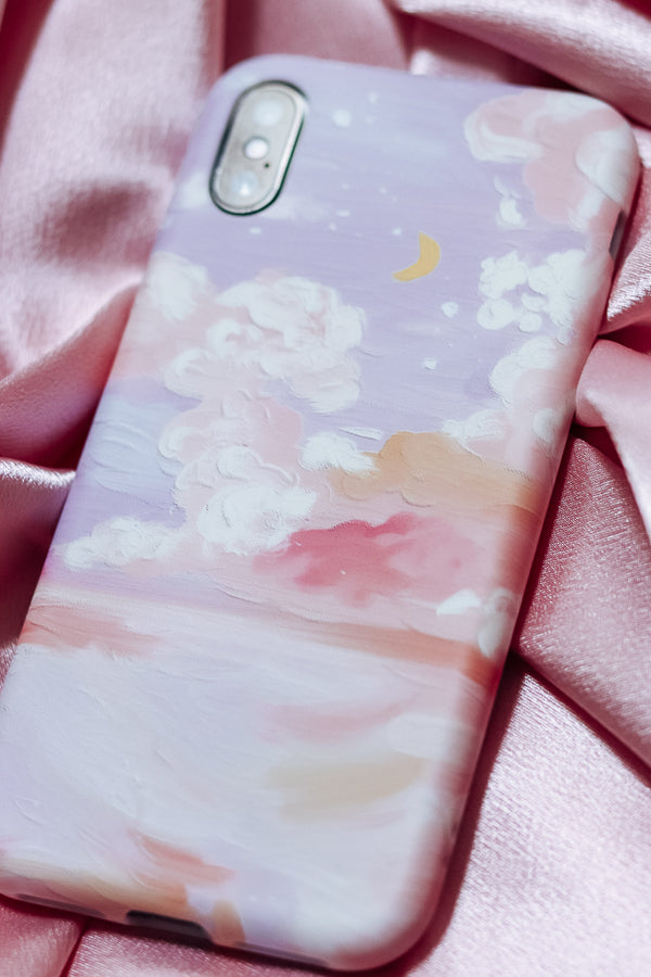 SUNSET PAINTING PHONE CASE - Idol Style - affordable boutique