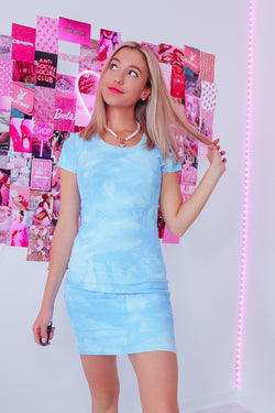 OCEAN TIE DYE DRESS - Idol Style - affordable boutique