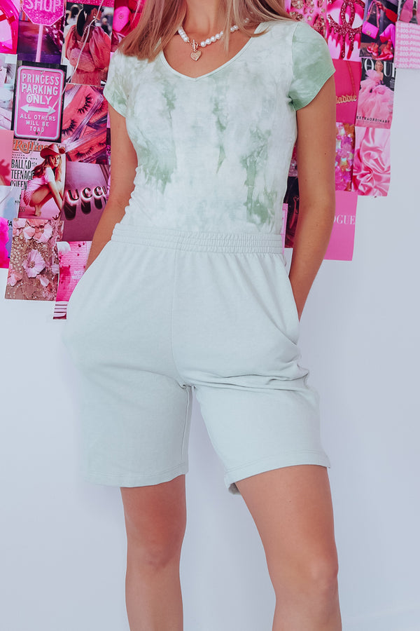 SWAY SWEAT SHORTS - SAGE GREEN - Idol Style - affordable boutique