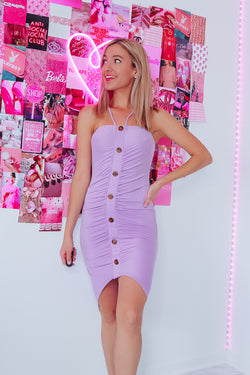 YACHT CLUB MIDI DRESS - LAVENDER - Idol Style - affordable boutique