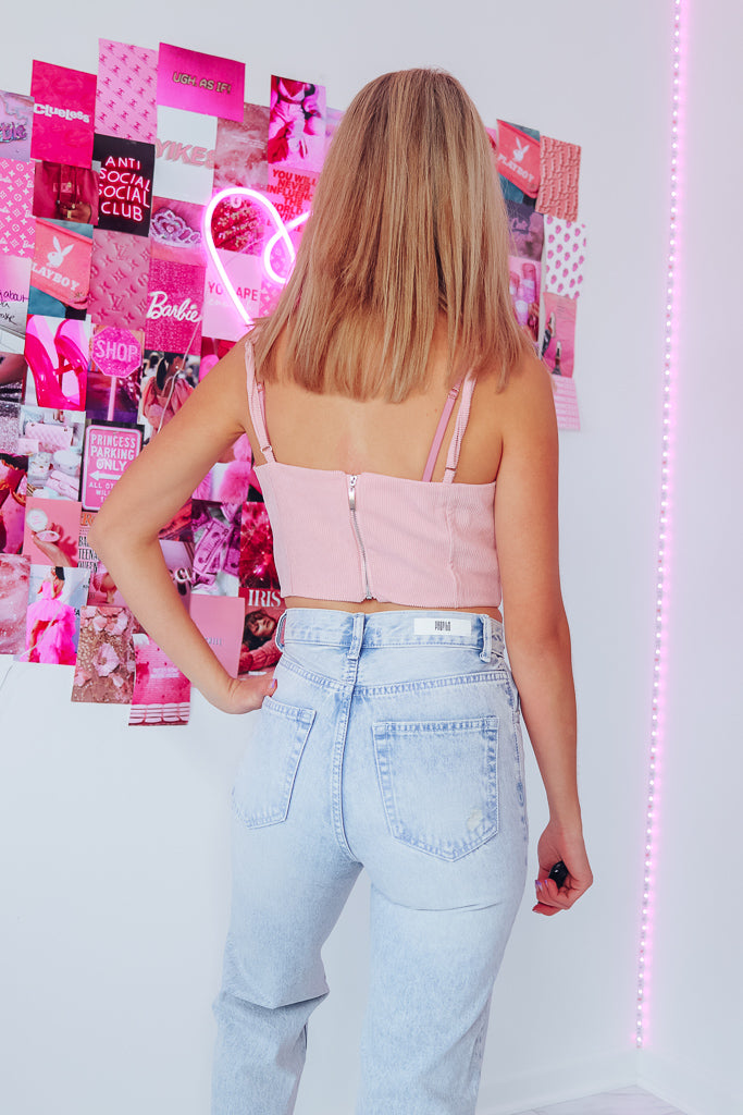 PRINCESS RIBBED BUSTIER TOP - Idol Style - affordable boutique