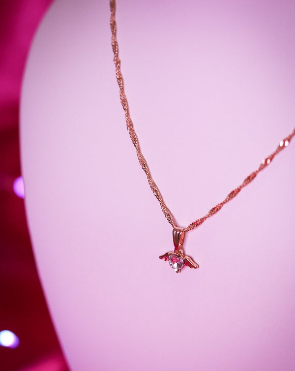 CUPID NECKLACE - GOLD/CLEAR