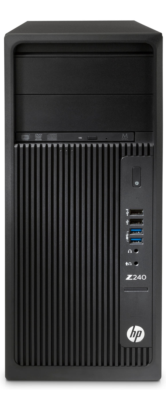 SBUY HP Z240 TOWER/400W 92% EFFICIENT CHASSIS/WIN 10 PRO 64