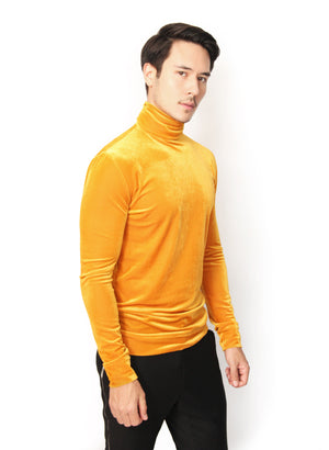 YELLOW VELVET SWEATER