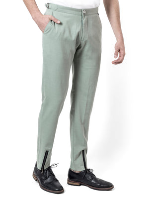GREEN LINNEN PANTS